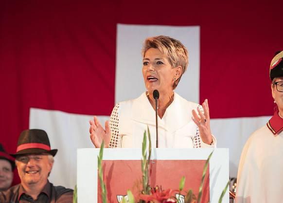 Justizministerin Karin Keller-Sutter hielt ihre erste Bundesfeier-Ansprache als Bundesrätin in Rorschach SG.