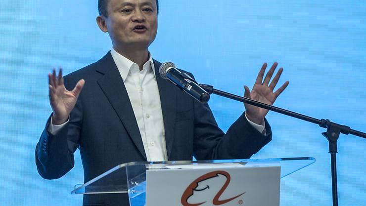 Der Chef und Gründer von Alibaba, Jack Ma, gibt seine Aufgaben bei dem Konzern ab und will sich anderen Tätigkeiten widmen. (Archivbild)