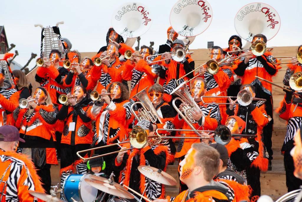 Am Guggenfestival Fürstenland treffen sich nicht weniger als 19 Formationen. Die Organisatoren bezeichnen es als «grösstes Guggentreffen der Ostschweiz.» (© zVg)