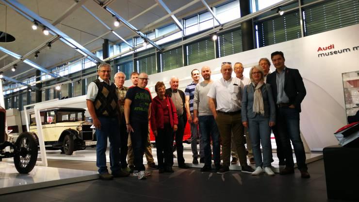 Die Grenchner Delegation zu Besuch im Audi Museum in der Partnerstadt Neckarsulm (DE).