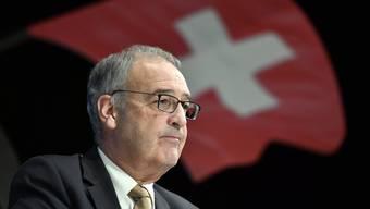 Guy Parmelin im Bundeshaus: Der 60-jährige SVP-Bundesrat schnürte als Vorsteher des Wirtschaftsdepartements mit Finanzminister Ueli Maurer das 42-Milliarden-Corona-Hilfspaket.