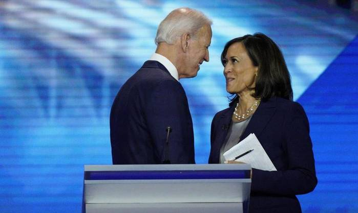 Mit Joe Biden geriet sich die Senatorin bei der ersten TV-Debatte der Demokraten im vergangenen Sommer in die Haare.