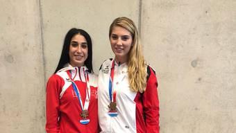 Erfolg für das Budo Sport Center Liestal: Nur Kars (l.) kann sich zum ersten Mal für eine offizielle WKF Karate Weltmeisterschaft selektionieren.
