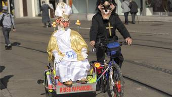 Die Katholiken und ihr Oberhaupt sind seit Jahren ein beliebtes Sujet an der Basler Fasnacht, bei Mohammed rät das Fasnachts-Comité nun aber zur Vorsicht.