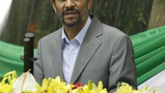 Ahmadinedschad während der Vereidigung