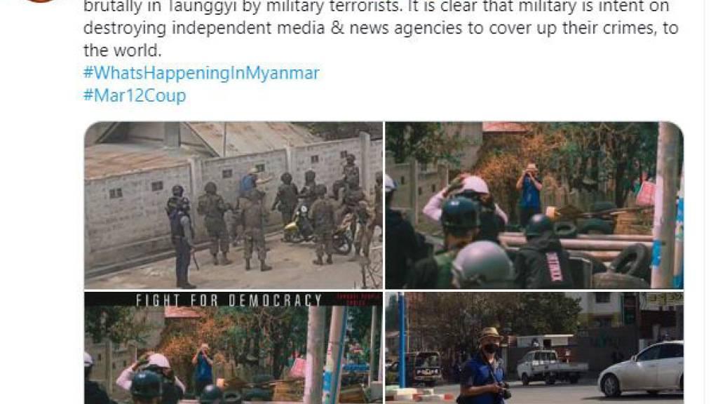 HANDOUT - Robert Bociaga wird von Sicherheitskräften im Zentrum des Landes festgenommen. Foto: facebook screenshot/dpa - ACHTUNG: Nur zur redaktionellen Verwendung im Zusammenhang mit der aktuellen Berichterstattung und nur mit vollständiger Nennung des vorstehenden Credits