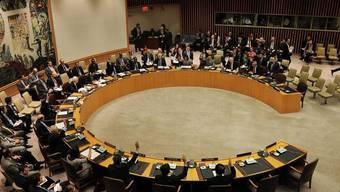 Die Mitglieder des UNO-Sicherheitsrates während der Abstimmung über eine Verschärfung der Sanktionen gegen Nordkorea