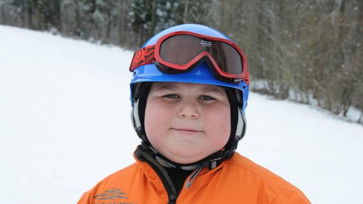 «Am liebsten sause ich mit meinem Bob von der Schule bis nach Hause. Heute war ich der erste Skifahrer auf dem Lift.»