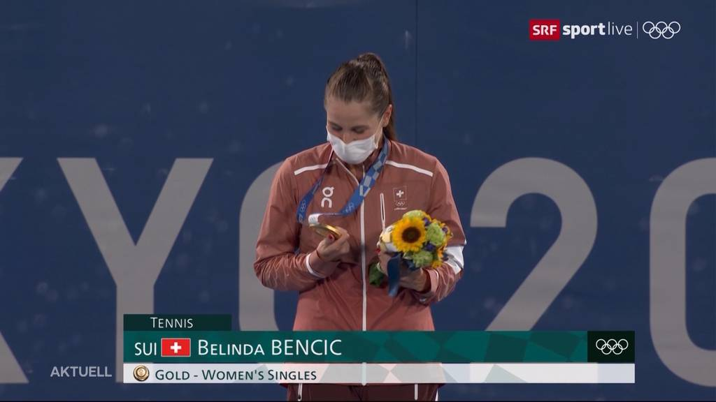 Erste Schweizer Tennis-Olympiasiegerin: Belinda Bencic siegt im Final und holt sich Gold