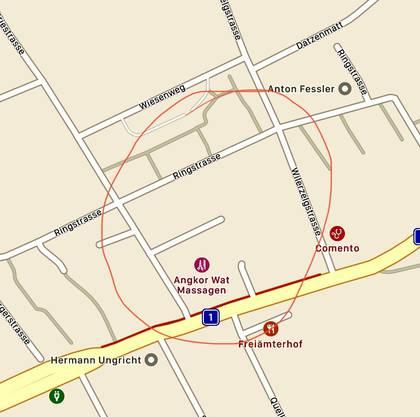 Die Polizei hat das Gebiet und die Strassen grossräumig abgesperrt.