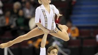 Das Walliser Eiskunstlauf-Paar Anaïs Morand und Antoine Dorsaz