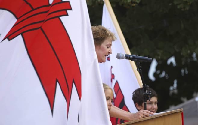Die Bundesrätin besuchte am 31. Juli Muttenz.