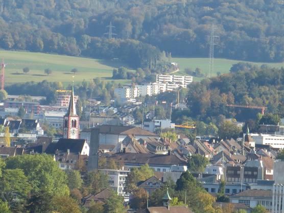 Der Blick nach Liestal von Frenkendorf aus