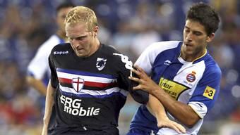 Marco Padalino (links) schnürt seine Schuhe künftig in der Serie B