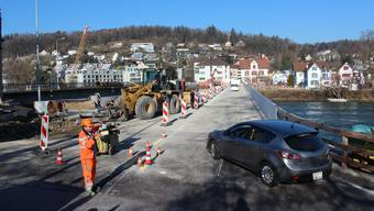 Aarau: Die Hilfsbrücke für den Bau des Pont Neuf ist eröffnet. (7.2.2020)