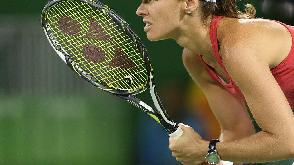 Mit ihrer neuen Partnerin im Doppel-Viertelfinal des US Open: Martina Hingis