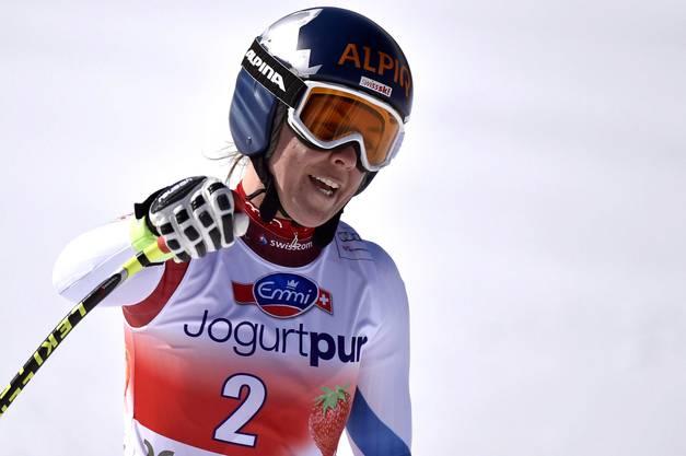 Ein starke Leistung an ihrem letzten Weltcup-Rennen - Fränzi Aufdenblatten