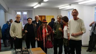 Bruno Landis (von links), Willi Schoder, Otto Grimm, Agnes Barmettler, Hans-Rudolf Fitze, Sara Rohner und Stefan Muntwyler.