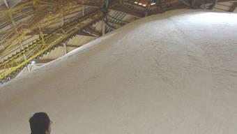 Saldome: Zu Beginn des Winters bis unters Dach gefüllt. HO