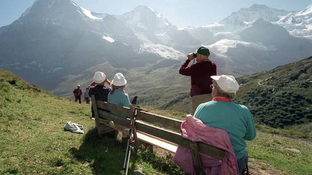 Thema Sicherheit: Die bfu hat wandernde Senioren im Visier (Archiv)