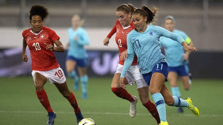 Fussballmatch der Schweizer Frauen-Nati bei den Play-offs für die WM 2019 im November 2018.