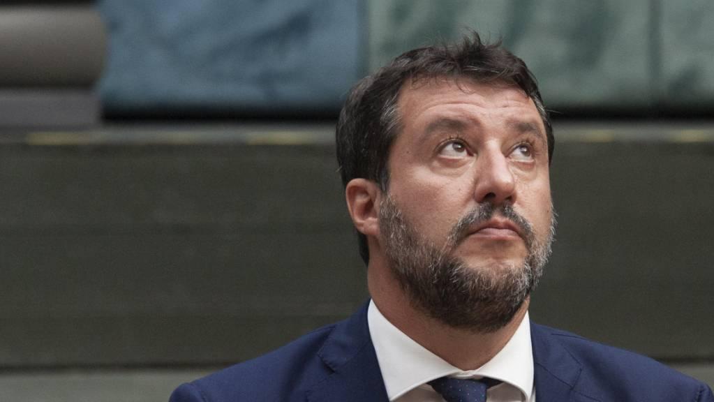 ARCHIV - Matteo Salvini, ehemaliger Innenminister von Italien, sitzt im Gerichtssaal. Foto: Valeria Ferraro/SOPA Images via ZUMA Wire/dpa