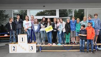 Die Klasse der Sek P2c hat den Teamwettkampf für sich entschieden.