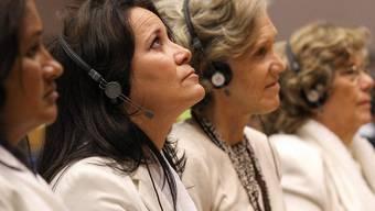 Die Damen in Weiss bei der Preisverleihung in Brüssel