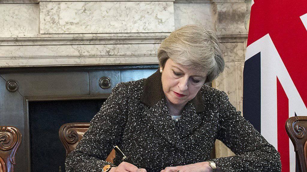 Die britische Premierministerin Theresa May will am Freitag eine Grundsatzrede zum Brexit halten.