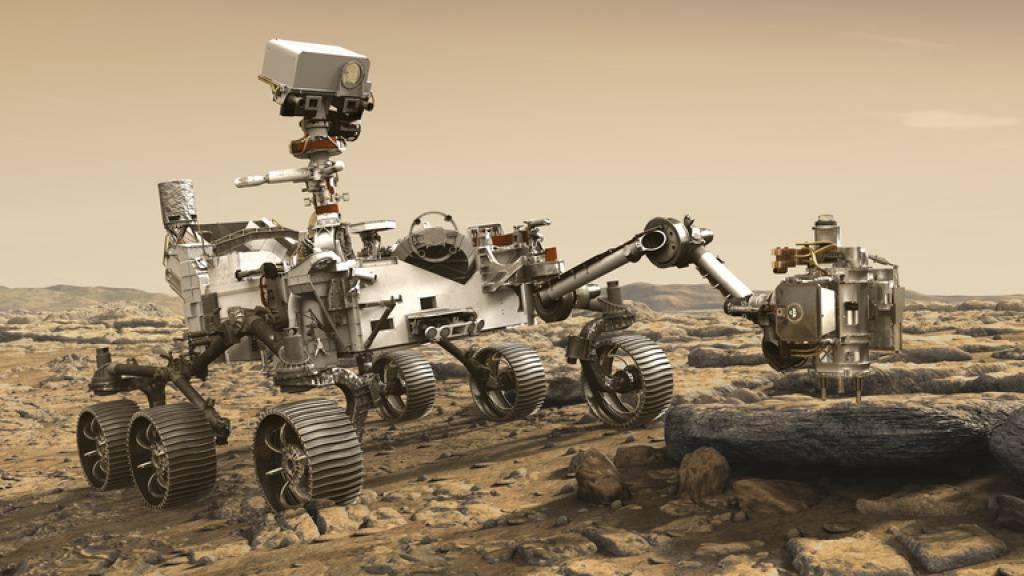 Heute Donnerstag landet die «Perseverance» auf dem Mars und danach beginnt der Mars-Rover seinen Forschungsauftrag (Bild). Wie weit aber sind die Vorbereitungen gediehen für einen Aufenthalt von Menschen? (Nasa)
