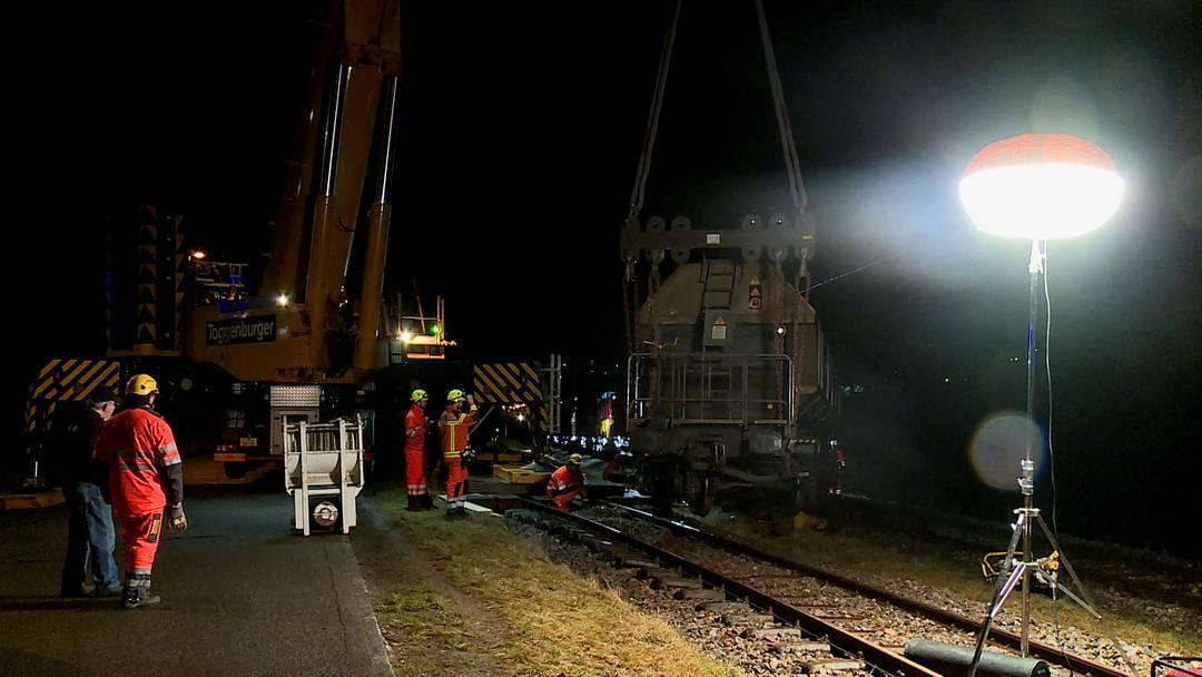 Schaffhausen: Güterzug entgleist