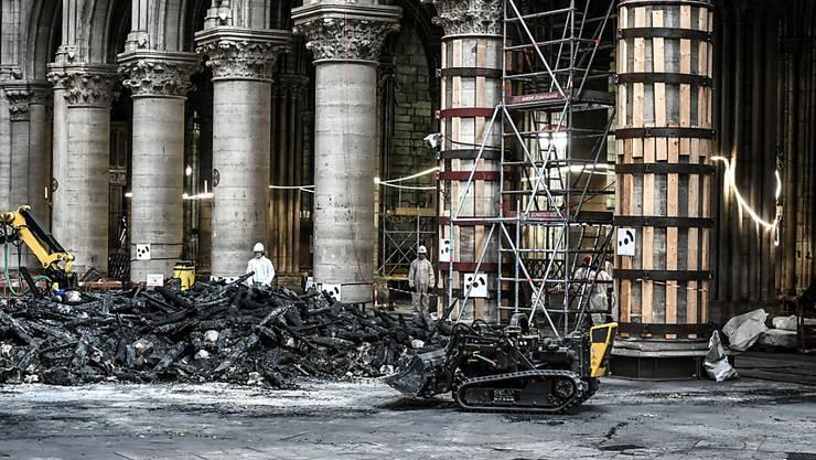 Die Umgebung der Pariser Kathedrale von Notre-Dame ist nach dem verheerenden Brand vor drei Monaten mit Blei vergiftet. (Archivbild)