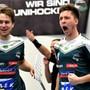 Die Spieler des SV Wiler-Ersigen haben allen Grund zum Jubeln: Mit 3:2 besiegten sie den UHC Uster.