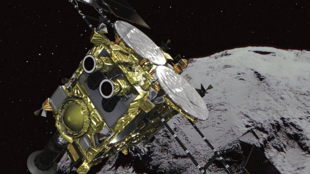 """Die japanische Raumsonde """"Hayabusa2"""" hat am Mittwoch ihr Ziel im All erreicht. (Simulationsbild)"""