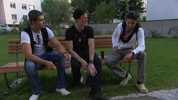 Die Basler Protagonisten Güney, Gabriel und Francisco.