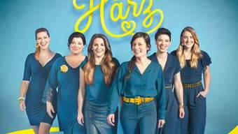 Sie wollen die Herzen der Schweizerinnen und Schweizer erobern: Die sechs Frauen der neuen Band Härz. (Pressebild)