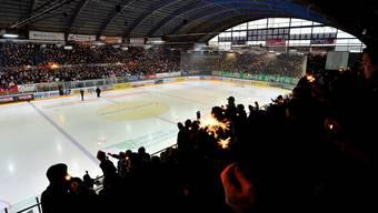 Solidarität für verletzten Ronny Keller vor dem Spiel EHC Olten gegen SC Langenthal