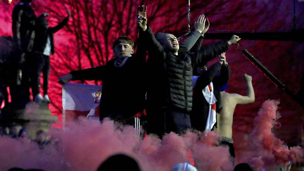 Die Fans der Rangers jubelten ausgelassen, was ihnen Tadel von der Regierungschefin einhandelte