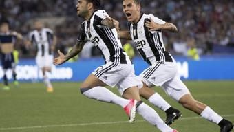 Dani Alves erzielte im Cupfinal in Rom zwischen Juventus Turin und Lazio Rom den Führungstreffer für die Turiner