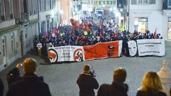 """Demonstration """"Bunt statt Braun - Solothurn bleibt nazifrei"""""""