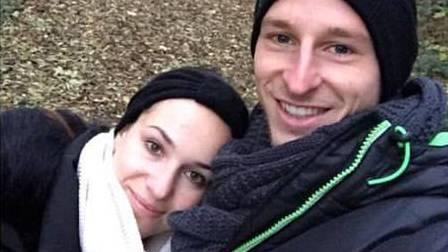 Luca Zuffi und seine Freundin in Rheinfelden.