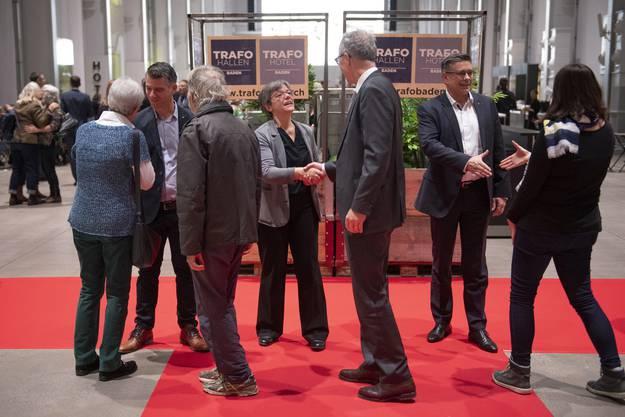 Der Badener Stadtrat empfängt die Gäste.