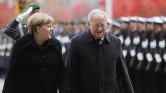 Bundesrat Johann Schneider-Ammann zu Besuch bei Bundeskanzlerin Angela Merkel