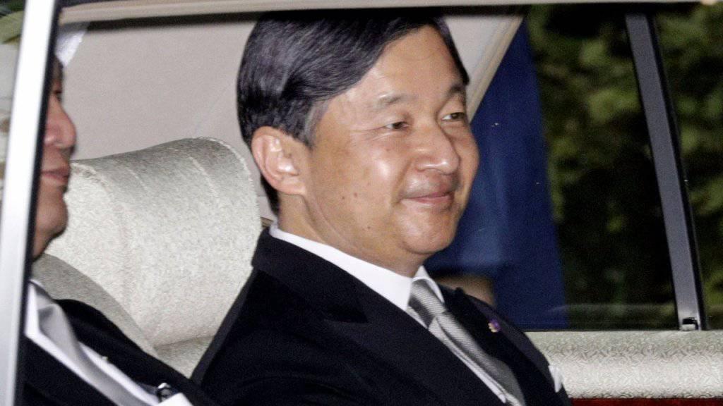 Japans Kaiser Akihito kündigt Göttern seine Abdankung an