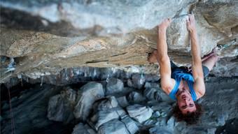 Adam Ondra überlegt sich vor dem Klettern, wo er schreit und wo nicht. pavel blažek