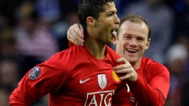 Cristiano Ronaldo (links) und Wayne Rooney sorgten für Wende