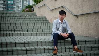 Joshua Wong in Freiheit: Als Anführer der Demokratie-Proteste vor vier Jahren musste er ins Gefängnis. Aus der Haft entlassen, hat er sich den aktuellen Protesten angeschlossen.