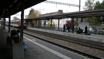 Perron 1 am Bahnhof Grenchen Süd