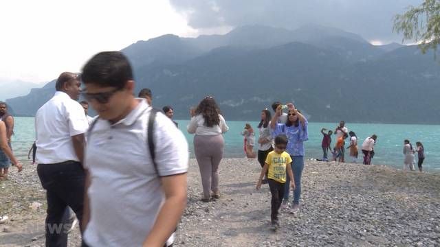 Bevölkerung sucht Abkühlung in den Bergen