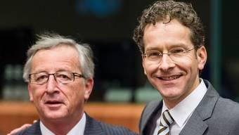 Der Vorgänger und sein Nachfolger: Juncker (links) und Dijsselbloem in Brüssel